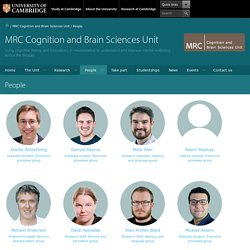 MRC CBU, Cambridge » Matt Davis