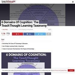 Los 6 dominios de la cognición: la taxonomía de TeachThought Learning