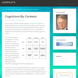Cognitions By Contexts : Learnlets