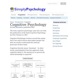 Cognitive Approach in Psychology