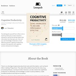 Cognitive… by Luc P. Beaudoin