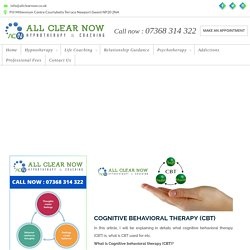 Cognitive Behavioral Therapy Newport