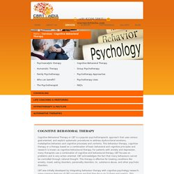 Cognitive Behaviour Therapy Chennai