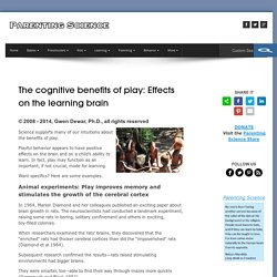 The cognitive benefits of play: Effects on the learning brain