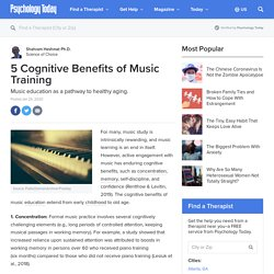 5 Cognitive Benefits of Music Training
