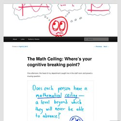 The Math Ceiling: Where's your cognitive breaking point?