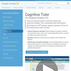 Cognitive Tutor - Carnegie Learning