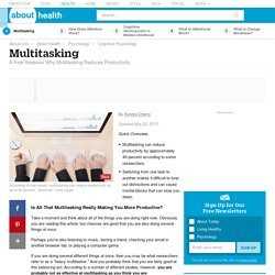 The Cognitive Costs of Multitasking