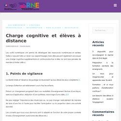 Charge cognitive et élèves à distance