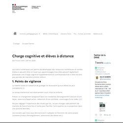 Charge cognitive et élèves à distance - DRNE - Délégation Régionale du Numérique pour l'Éducation