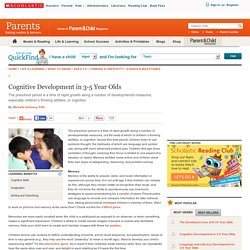 Cognitive Development in 3-5 Year Olds
