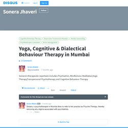 Yoga, Cognitive & Dialectical Behaviour Therapy in Mumbai