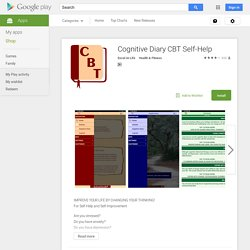 Cognitive Diary CBT Self-Help App