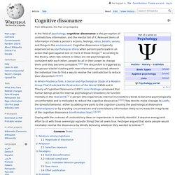 Cognitive dissonance - Wikipedia