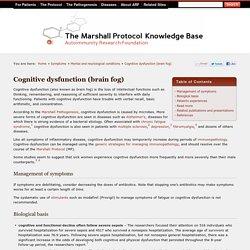 Cognitive dysfunction (brain fog) (MPKB)