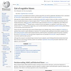 List of cognitive biases - Wikipedia, the free encyclopedia - Pentadactyl