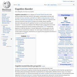 Cognitive disorder