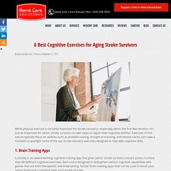 6 Best Cognitive Exercises for Aging Stroke Survivors