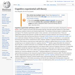 Cognitive-experiential self-theory - Wikipedia