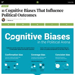 11 Cognitive Biases That Influence Political Outcomes