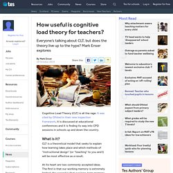 Cognitive load theory: what teachers need to know