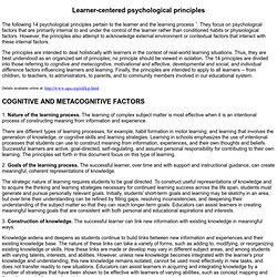 COGNITIVE AND METACOGNITIVE FACTORS