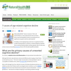 7 causes of age-related cognitive decline