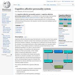 Cognitive-affective personality system