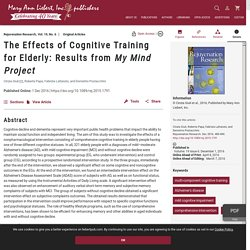 WHY & HOW: The Effects of Cognitive Training for Elderly