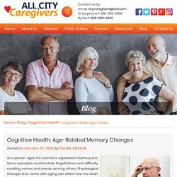 Cognitive Health: Age-Related Memory Changes