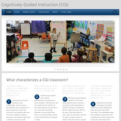 Cognitively Guided Instruction (CGI)