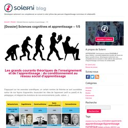 [Dossier] Sciences cognitives et apprentissage – 1/5 - le blog de Solerni – plateforme de MOOCs