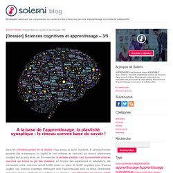 [Dossier] Sciences cognitives et apprentissage – 3/5 - le blog de Solerni – plateforme de MOOCs