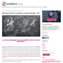 [Dossier] Sciences cognitives et apprentissage – 4/5 - le blog de Solerni – plateforme de MOOCs