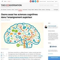Osons aussi les sciences cognitives dansl'enseignementsupérieur