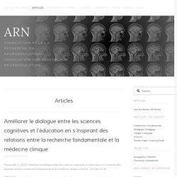 Améliorer le dialogue entre les sciences cognitives et l'éducation en s'inspirant des relations entre la recherche fondamentale et la médecine clinique