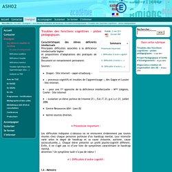 ASH02 - Troubles des fonctions cognitives - pistes pédagogiques