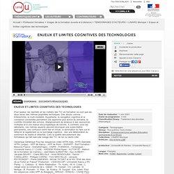 Enjeux et limites cognitives des technologies -Monique LINARD 2000