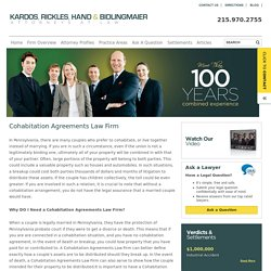 Cohabitation Agreements Law Firm