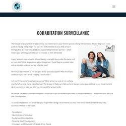 Cohabitation Surveillance