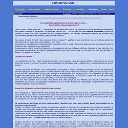 Cohabitations génératrices de tensions -Caniconsultante - Danièle Mirat