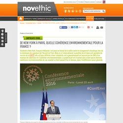 De New York à Paris, quelle cohérence environnementale pour la France ?