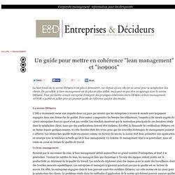"""Un guide pour mettre en cohérence """"lean management"""" et """"iso9001"""""""