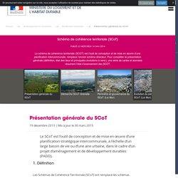Schéma de cohérence territoriale (SCoT) - Ministère du Logement et de l'Habitat durable