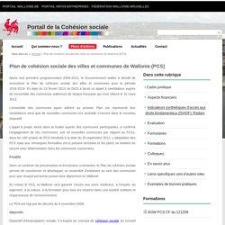 Plan de cohésion sociale des villes et communes de Wallonie (PCS)