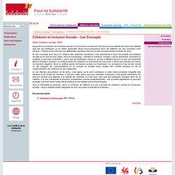 Cohésion et inclusion Sociale – Les Concepts