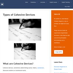 Types of Cohesive Devices – EnglishPost.org