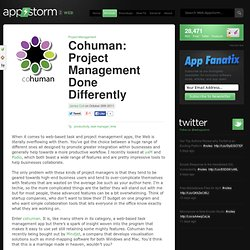 Cohuman: Project Management Done Differently