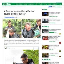 A Paris, un jeune coiffeur offre des coupes gratuites aux SDF