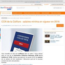 CCN de la Coiffure : salaires minima en vigueur en 2016